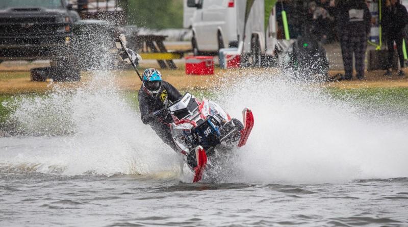 David Fischer snowmobile watercross